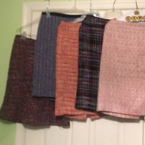 Lot of 5 Talbots tweed skirts
